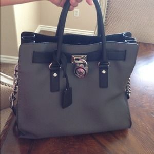 Michael Kors Hamilton leather handbag purse tote