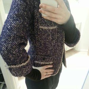Talbots Jackets & Coats - Tweed blazer cuffed