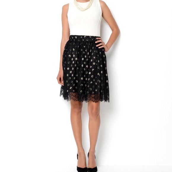 Ivanka Trump Dresses & Skirts - 🌟 Ivanka Trump polka dot skirt XS-S 4