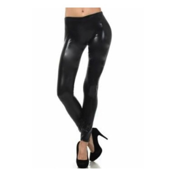 Black Gloss Jeans - Jon Jean