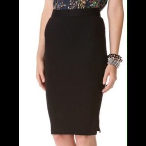 Alice + Olivia Black Jenna Pencil Skirt 2 NWT