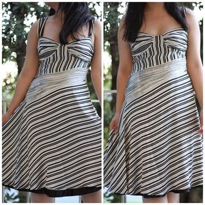 Moschino Jeans Black and White Stripe Dress