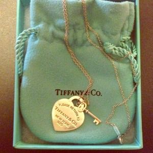 Authentic Tiffany & Co. Silver heart tag necklace