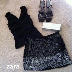 Zara Dresses & Skirts - Zara Sequin Mini Skirt⚡️SALE⚡️