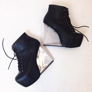 Jeffrey Campbell Boots - Jeffrey Campbell Dina Lucite Wedge Boots