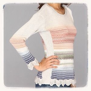 Nik and Zoe Sunset Sweater in Sterling