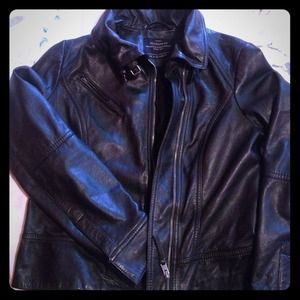 Black leather All saints jacket. Never worn !