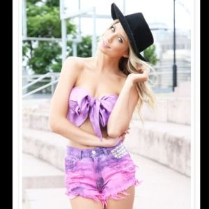 Sabo Skirt purple bow bandeau top