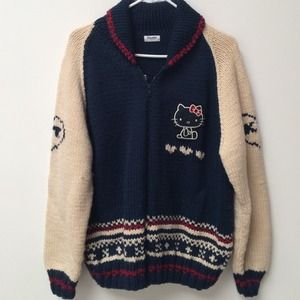 Sweaters - Vintage Hello Kitty Varsity Zip Sweater