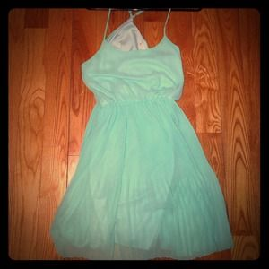 Everly Pleated Mint Dress