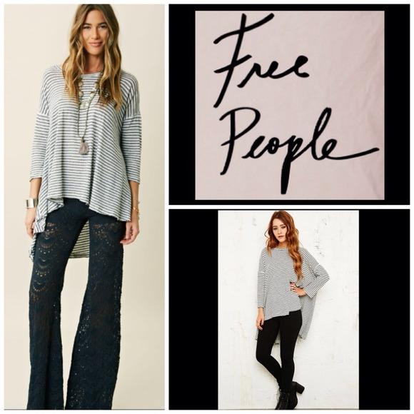 116ce27a7fd083 Free People Tops | Blackwhite Striped Oversized Top Nwt | Poshmark