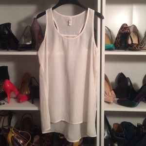 Xhilaration Tops - Off white sheer tank