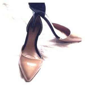 Zara Color Block Black & Beige Court Shoe size 37