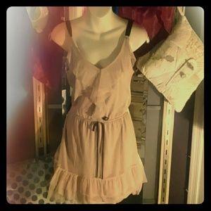 Dresses & Skirts - Simple Sand Ruffle Dress