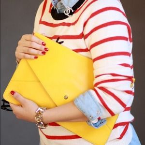 Clutches & Wallets - Yellow envelope clutch