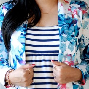 Mossimo Supply Co. Jackets & Blazers - Blue floral blazer