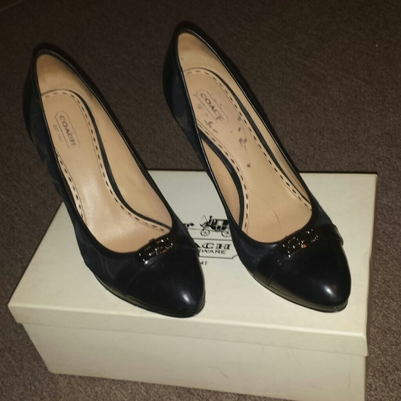 63 coach shoes black on black coach high heels in