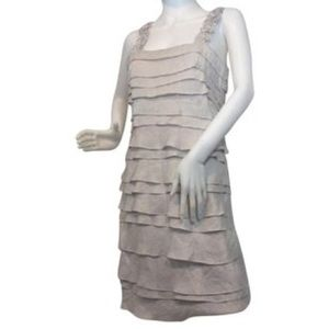 sangria Dresses & Skirts - Sangria Ivory Dress, Sz 10, material glistens.