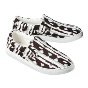 Peter Pilotto Slip Ons in Graphic Black &White