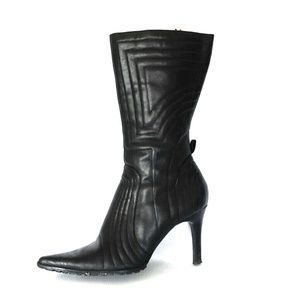 Nine West Boots - Black Motorcycle Stiletto Boot