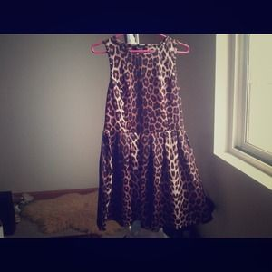 Topshop cheetah jacquard dress