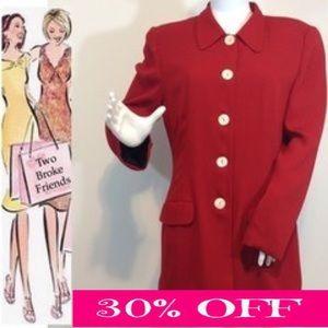 Carole Little Jackets & Blazers - Carole Little red jacket Sz. 10