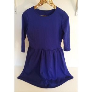 Indigo Fit & Flare Dress
