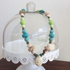 Jewelry - Turquoise Pretty Pastel Glam Statement Necklace