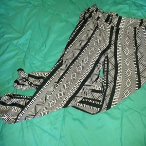 PARACHUTE PANTS! tribal b&w pattern