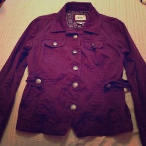 Outerwear - Purple button down jacket