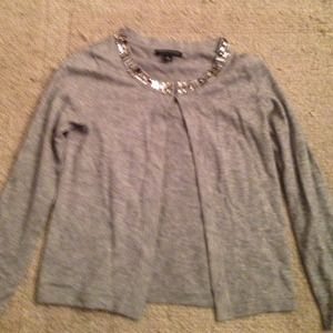 Grey cardigan with adornments