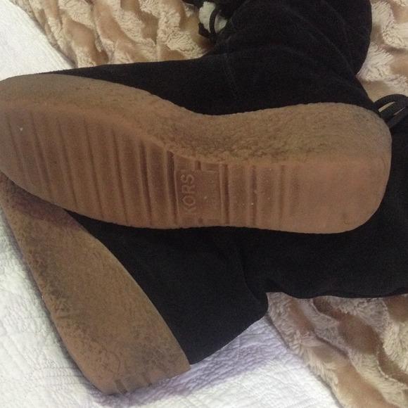 Michael Kors Boots With Fur Michael Kors Suede Fur Wedge