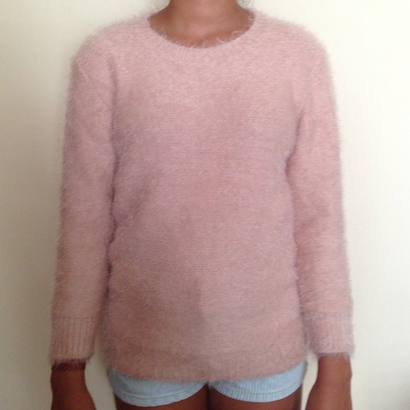 29% off Forever 21 Sweaters - Forever 21 fuzzy light pink sweater ...