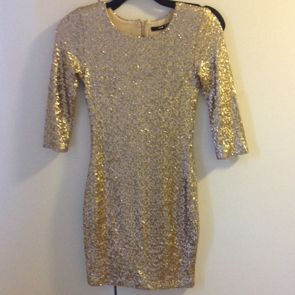 69% off Dresses &amp Skirts - TFNC gold Sequin Dress NWOT from ...