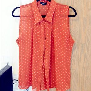Polka Dot Button Up Tank