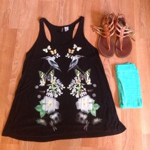 divided by H&M Tops - Comfy loose nature tank DIVIDED by H&M