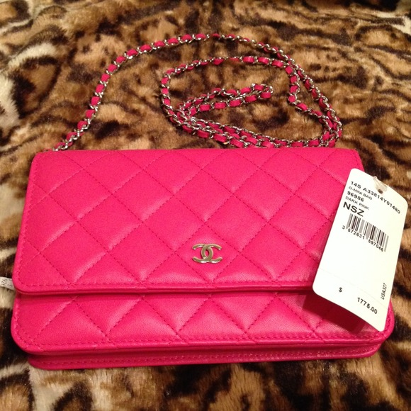 331418e4054 CHANEL WALLET ON CHAIN 2014 hot pink