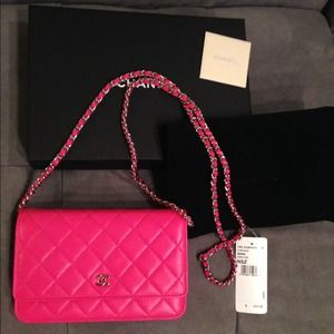 b324ce4535a CHANEL Bags - CHANEL WALLET ON CHAIN 2014 hot pink