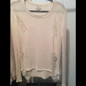 Wannabe Wildfox Style Shredded Distressed Sweater