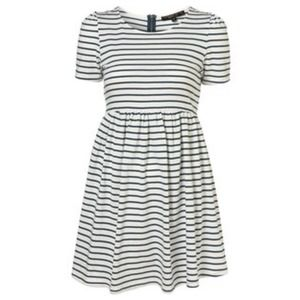 TOPSHOP PETITE STRIPE TEE SHIRT DRESS 4