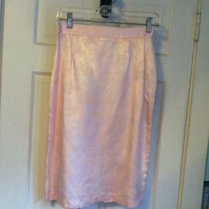 Dresses & Skirts - Vintage blush pink pattern skirt & jacket