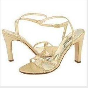 Taryn Rose Shoes - Taryn Rose metallic gold strappy heels