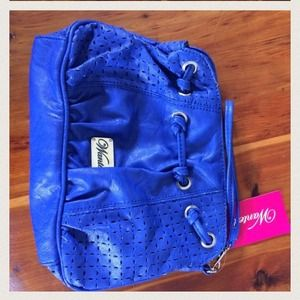 NWT Electric Blue wristlet by Wanted