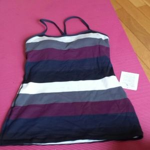 NWT Lululemon Power Y Tank Striped 6