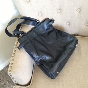 Banana Republic Black Leather Bag