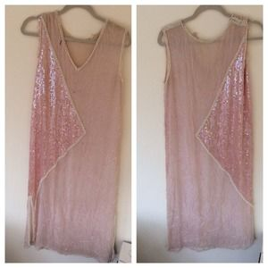 Dresses & Skirts - Vintage silk sequin beaded dress size M / L