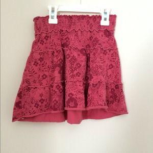 girl's floral skirt
