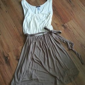 Mark by Avon Dresses & Skirts - REDUCED!! Cream and taupe flowy tank dress
