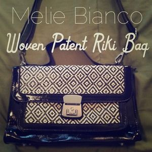 HOST PICK!!! Melie Bianco Woven Patent Riki Bag
