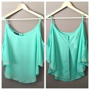 Flowy Mint Top